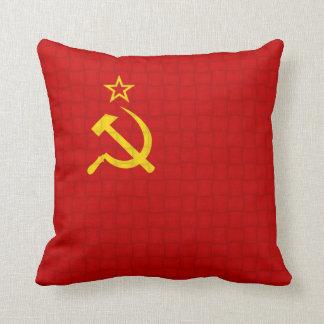 Russia Soviet union flag Throw Pillow