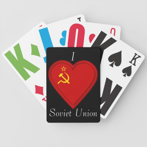 Russia Soviet union flag Bicycle Playing Cards