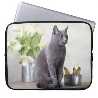 Russian Blue Laptop Sleeve