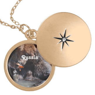 Russian Brown Bear Custom Necklace