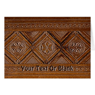 Russian Carved Wood Box Greeting Card