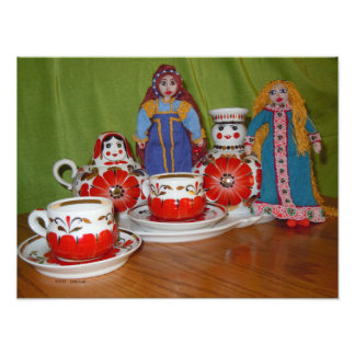Russian Doll Tea Time Art Photo