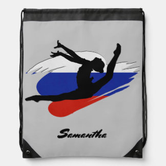 Russian Gymnast personalized cinch sack backpack