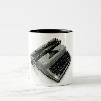 Russian Lubava typewriter Two-Tone Coffee Mug