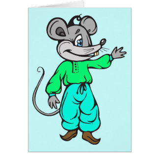 Russian Mouse Card