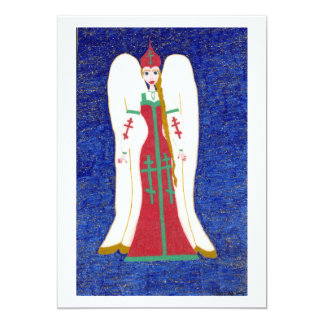Russian Orthodox Angel 13 Cm X 18 Cm Invitation Card