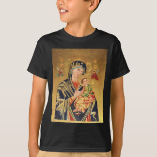 Russian Orthodox Icon - Virgin Mary and baby Jesus T-Shirt