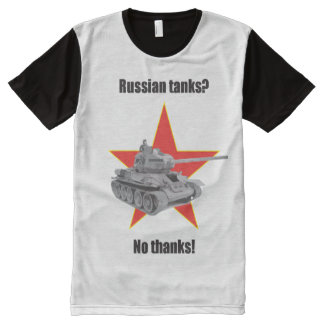 Russian tanks? No thanks! Over sized All-Over Print T-Shirt