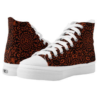 Rust color, Keith Haring inspired Zipz Shoes