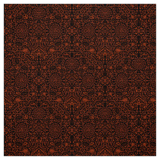 Rust Color Poplin, Keith Herring style fabric