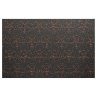 Rusted Iron Baphomet Demon Goth Fabric