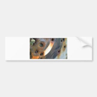 rustedmetalcircle.jpg bumper sticker