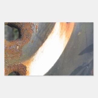 rustedmetalcircle.jpg rectangle sticker