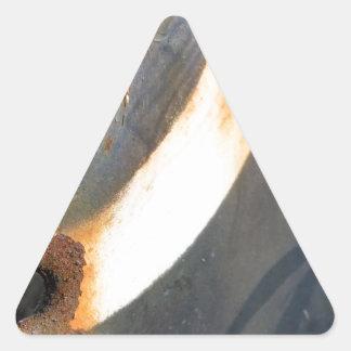 rustedmetalcircle.jpg triangle sticker