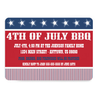 Rustic 4th Of July BBQ Invitations