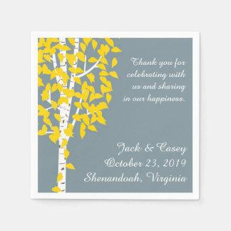 Rustic Aspen Birch Trees Wedding Napkins Disposable Napkin