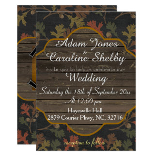 Rustic Autumn Chalkboard Wedding Invitation