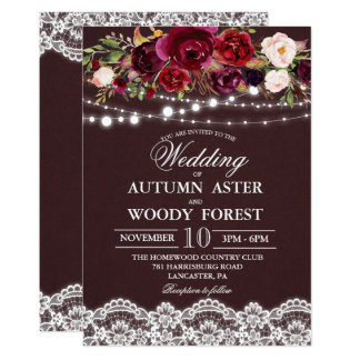 Rustic Autumn Wedding Invitation