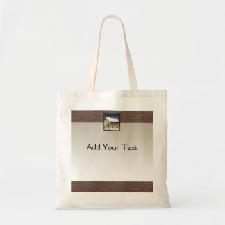 Rustic Barn Wood on Sun Fade Tote Bag