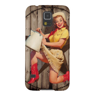 rustic BarnWood texas star western country cowgirl Case For Galaxy S5