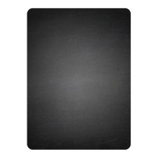 Rustic Black Chalkboard Printed Custom Announcement