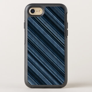 Rustic Blue, Attractive Men's Stripes Pattern OtterBox Symmetry iPhone 8/7 Case