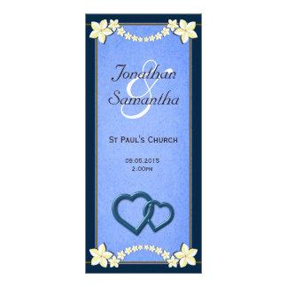 Rustic Blue Floral Wedding Program Templates Custom Rack Card