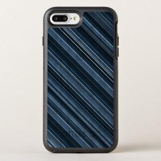 """""""Rustic Blue"""" Stripes Pattern OtterBox Symmetry iPhone 8 Plus/7 Plus Case"""