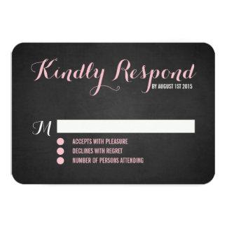 Rustic Blush Script Wedding RSVP Card