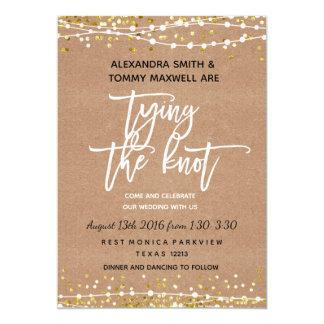 Rustic Boho Wedding Invitation