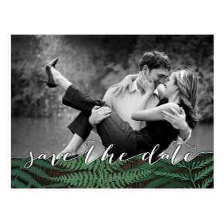 Rustic Botanical Fern Photo Save the Date Cards