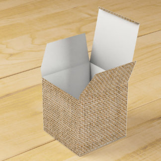 Rustic Burlap Wedding Favor Gift Box Party Favour Boxes