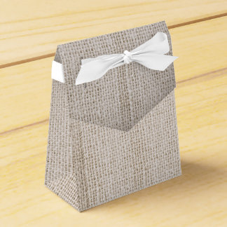 rustic burlap wedding favour box