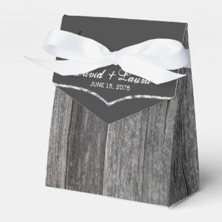 Rustic Chalkboard Wedding Favour Box