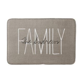 Rustic Chic Family Monogram Bath Mat