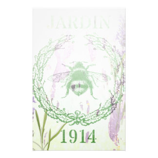 rustic chic french country lavender vintage bee stationery