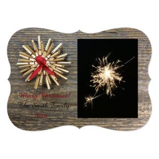 Rustic Christmas Flat Card