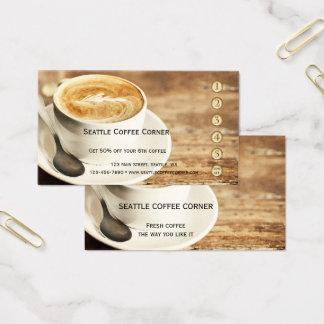 Rustic Coffee Loyalty Punch Card