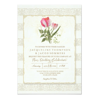 Rustic Country Barn Outdoor Garden Floral Wedding Card
