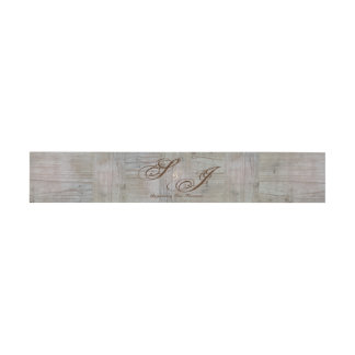 Rustic Country Barn Wood Belly Bands Invitation Belly Band