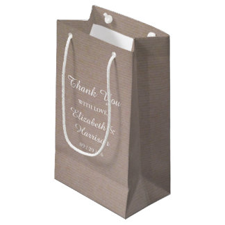 Wedding Gift Bags Nz : Rustic Country Kraft Wedding Thank You Favor Small Gift Bag