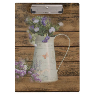 rustic country lavender primitive barn wood clipboard
