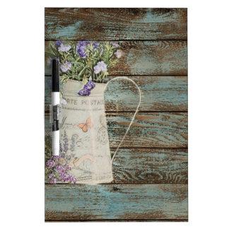 rustic country lavender whitewash blue barn wood dry erase board