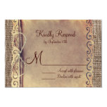 Rustic Country Vintage Burlap Wedding RSVP Cards Personalized Invite