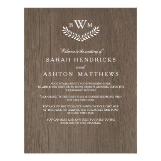 Rustic Country Wedding Program Flyer