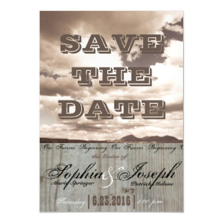 Rustic Country Wedding Save the Date Magnet Card