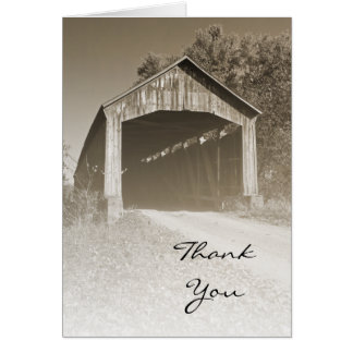 Rustic Covered Bridge Thank You Card