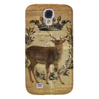 Rustic crown outdoorsman whitetail buck Deer Galaxy S4 Case