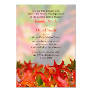 Rustic Custom Fall Wedding Invitations