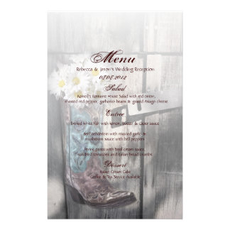 rustic daisy western country cowboy wedding stationery